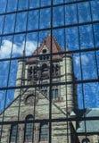 Reflection of Trinity Church. The historic Trinity Church at Copley square in Boston Massachusetts Royalty Free Stock Photography