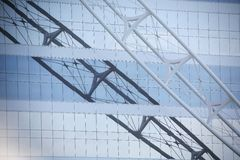 Reflection of truss Stock Image