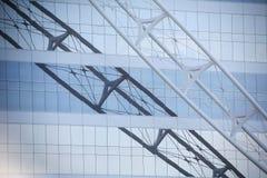 Reflection of truss. Of Burj al Arab hotel, Dubai Stock Image