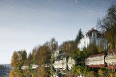 Reflection of Tuebingen at Neckar Royalty Free Stock Image