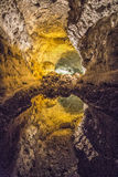 Reflection in underground lake at Cuerva de los Verdes Royalty Free Stock Images