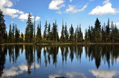 Reflection on Upper Gumboot Lake Royalty Free Stock Photo