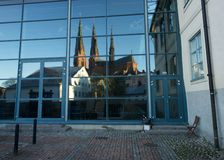 Reflection of Uppsala Stock Images