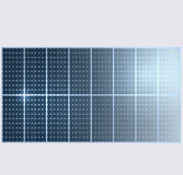 Reflection in vector solar panels. Stock Photography