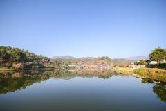 Reflection view at Rak Thai Village, Mae Hong Son Province, Royalty Free Stock Photos