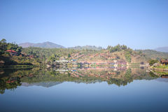 Reflection view at Rak Thai Village, Mae Hong Son Province, Stock Photography