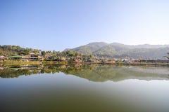 Reflection view at Rak Thai Village, Mae Hong Son Province, Royalty Free Stock Images