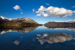 Reflection in Walchensee, German Alps, Bavaria, Germany Royalty Free Stock Image