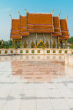 Reflection of Wat Kaeo Manee Si Mahathat Stock Photos