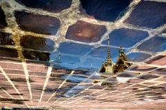 Reflection of Wat Pho Royalty Free Stock Photo