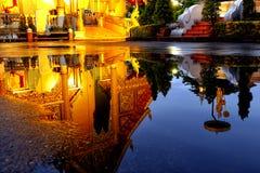 Reflection of Wat Phra Singh Royalty Free Stock Photo