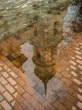 The reflection in the water Holy Trinity Cathedral in Kaluga in Russia. Royalty Free Stock Images