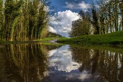 Reflection. Water reflection landscape Royalty Free Stock Photos