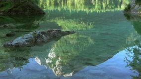 Reflection in Water of Mountain Lake. Seamless Loop stock video