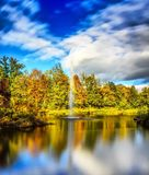 Reflection, Water, Nature, Leaf royalty free stock photos