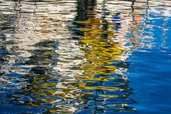 Reflection on the water stock photography