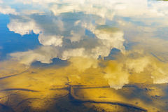 Reflection in the water of the sky and the bottom of the river. Reflection in the water of the sky and the bottom of the Delaware river PA Royalty Free Stock Photography