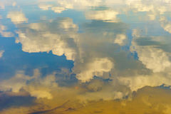 Reflection in the water of the sky and the bottom of the river. Reflection in the water of the sky and the bottom of the Delaware river PA Royalty Free Stock Images