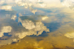 Reflection in the water of the sky and the bottom of the river. Reflection in the water of the sky and the bottom of the Delaware river PA Stock Image