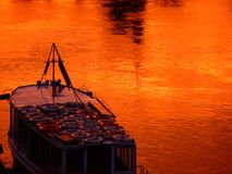Reflection, Water, Sunset, Orange Royalty Free Stock Photo