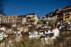 Reflection in the water of Veliko Tarnovo Royalty Free Stock Images