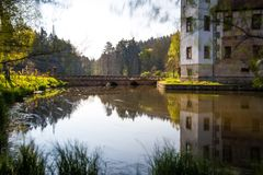 Reflection, Water, Waterway, River royalty free stock photos