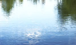 Reflection water waves Royalty Free Stock Images