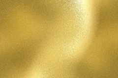 Reflection of wave gold metal wall, texture background.  stock illustration