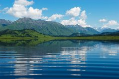 Reflection on wave in lake Royalty Free Stock Images