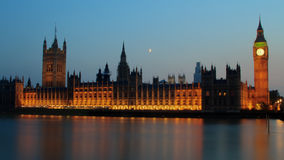 Reflection of Westminster Palace on Thames Stock Photography
