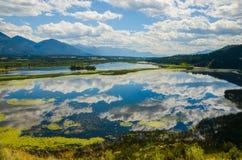 Reflection Wetlands Mountain Landscape Royalty Free Stock Photo