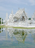 Reflection of white temple Stock Photo