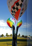 Reflection Window Hot Air Balloons Royalty Free Stock Image