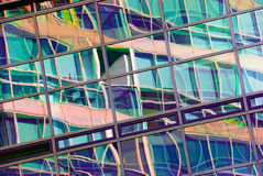 Reflection in the windows. Of an office building Stock Photography