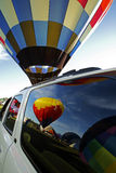 Reflection Windows Balloons Colourful Stock Images