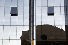 Reflection in windows of the modern building Royalty Free Stock Photo