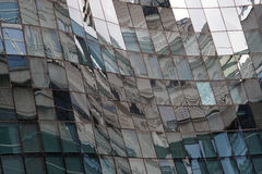 Reflection in windows of modern building Royalty Free Stock Photography