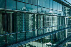 Reflection on a the windows. A shot of Kuala Lumpur city reflected on windows Royalty Free Stock Photography