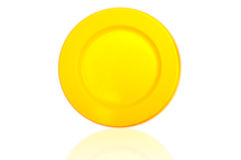 Reflection of yellow plastic dish Stock Photo