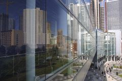 Reflection of Yerba Buena Gardens, San Francisco Stock Photography