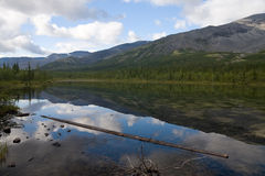 Reflections. A limpid lake reflecting the mountains Royalty Free Stock Photos