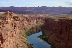 Reflections. The colorado river as seen from Navajo Bridge near Page Arizona with nice reflections Royalty Free Stock Images