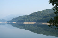 Reflections. On water, Vidraru, Transfagarasan Royalty Free Stock Photography