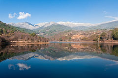 Reflections. Of mountains in Avila (Spain Stock Photos