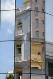 Reflections. Of old buildings in new in Havana Stock Photos