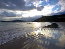 Reflections. Coastline at White Bay, Co. Cork, Ireland Royalty Free Stock Images