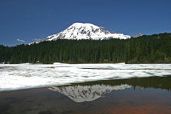 Reflections. Mount Rainier & Reflection Lake Royalty Free Stock Photo