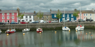 Reflections in Aberaeron Royalty Free Stock Photography