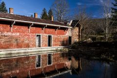 Spring House - Abandoned Sweet Springs - West Virginia stock images