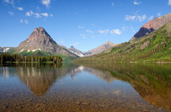 Reflections in an alpine lake Royalty Free Stock Images